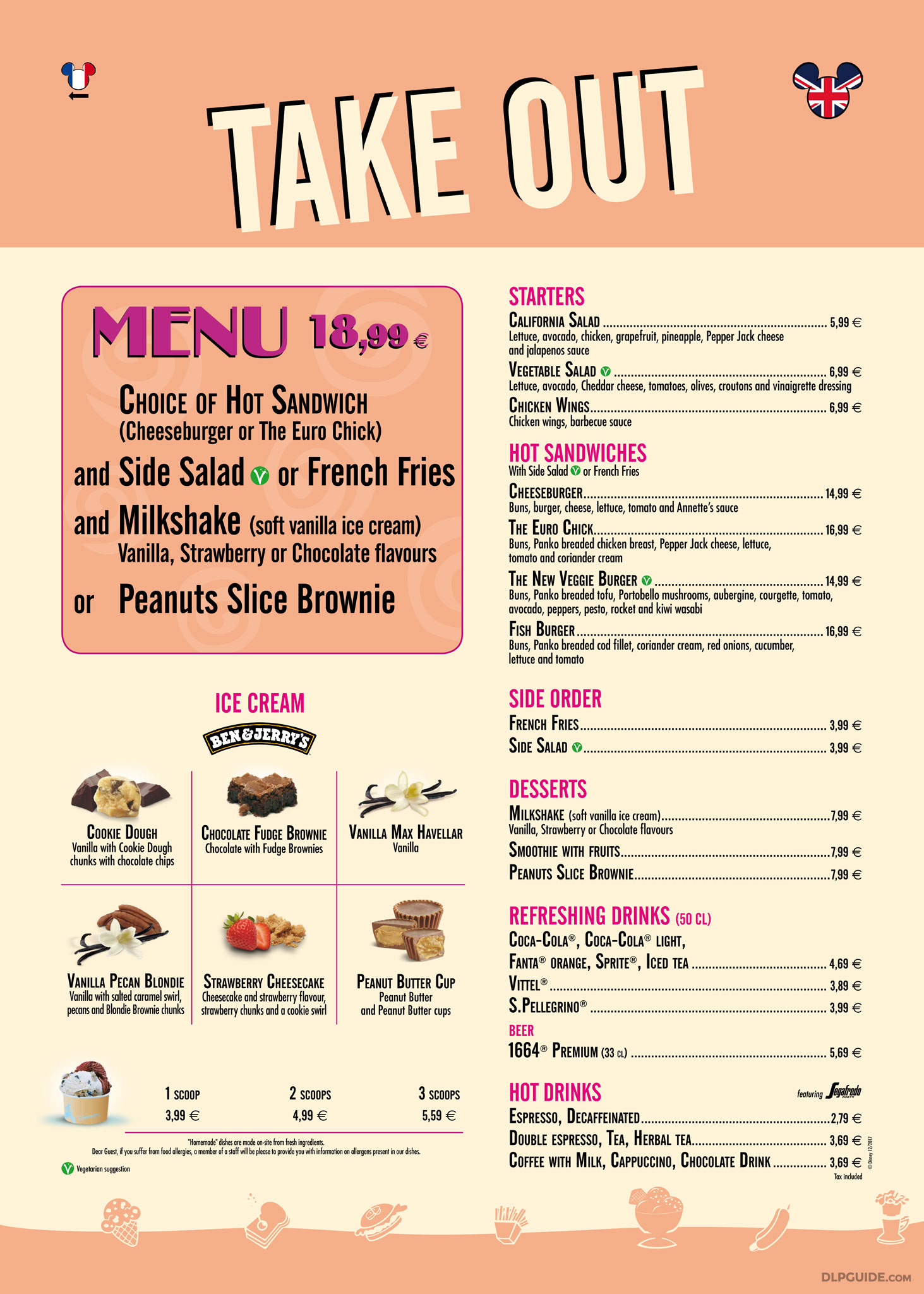 Annette S Diner Take Out Menu Dlp Guide Disneyland