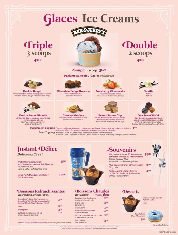 The Gibson Girl Ice Cream Parlour menu