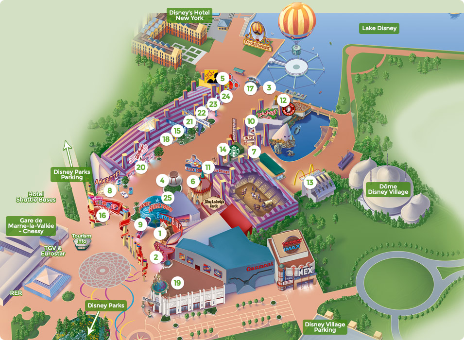 photo relating to Printable Disneyland Maps referred to as Map of Disney Village DLP Marketing consultant Disneyland Paris Guideline