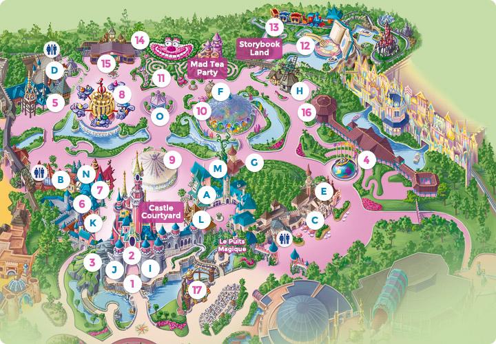 Map of Disneyland, Disney Land, Eurodisney, Euro Disney Resort of ...