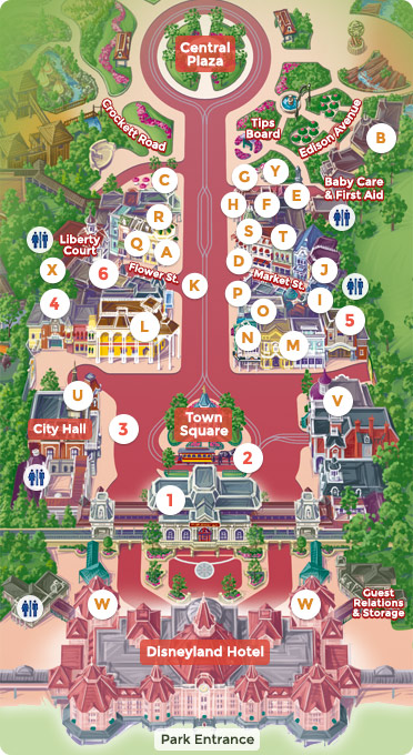 Map Of Main Street U S A Dlp Guide Disneyland Paris