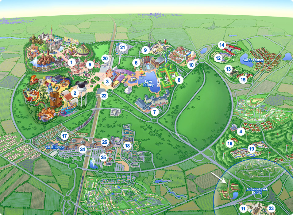 graphic relating to Printable Disneyland Maps called Map of Disneyland Paris DLP Expert Disneyland Paris Guideline