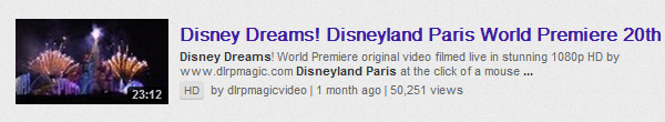 Our Disney Dreams! HD video celebrates 50,000 views