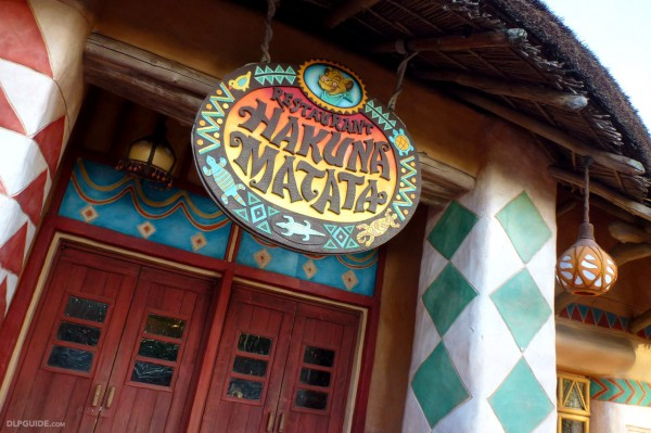 Restaurant Hakuna Matata at Disneyland Paris