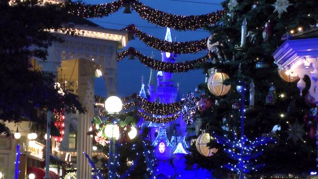 Main Street, U.S.A. Christmas Atmosphere