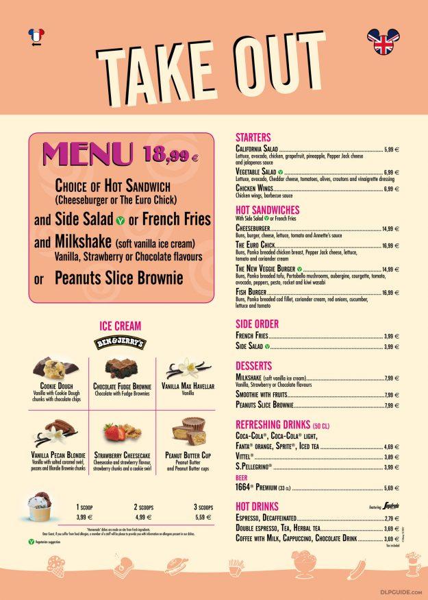 Annette's Diner Take Out menu