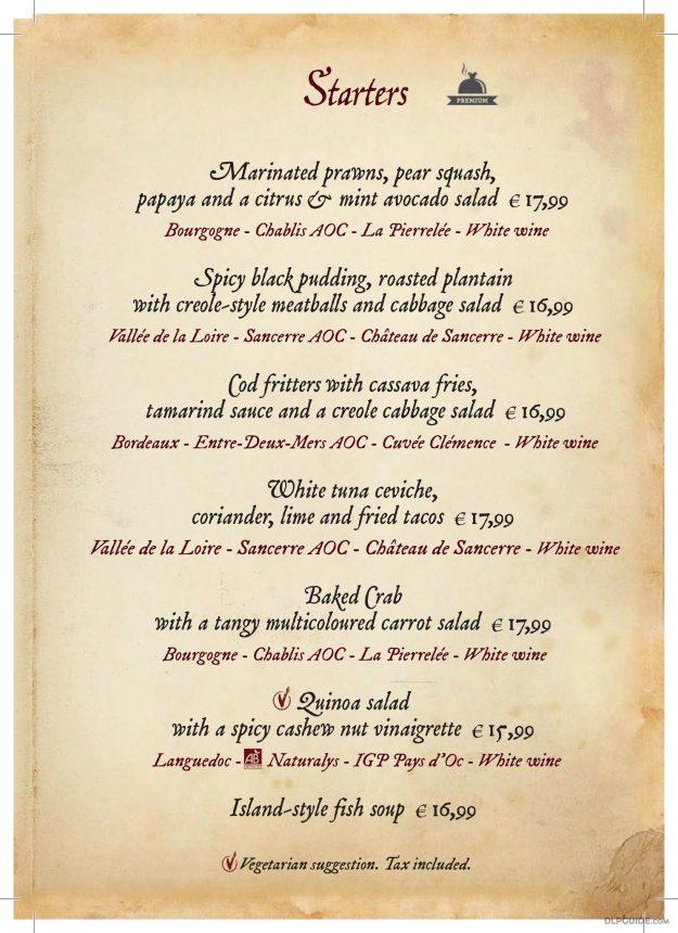 Captain Jack's - Restaurant des Pirates menu