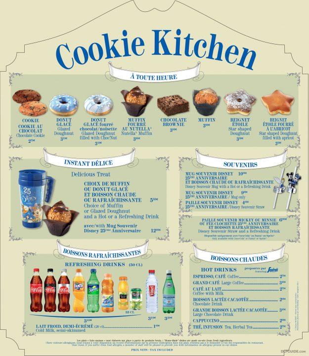Cookie Kitchen menu