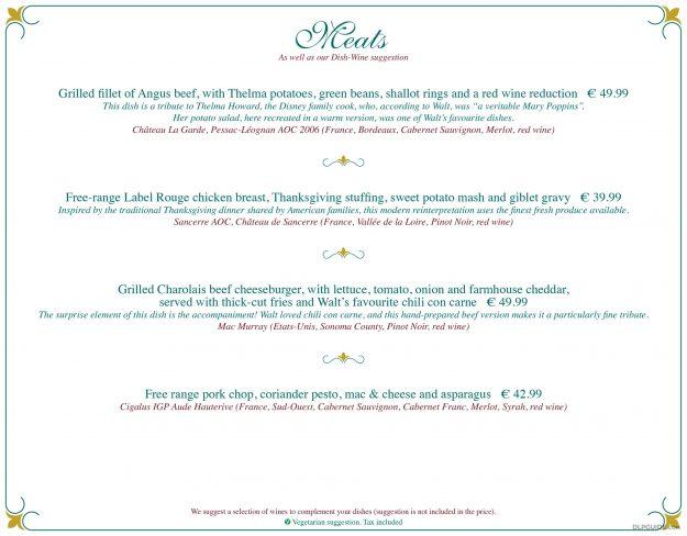 Walt's - An American Restaurant menu