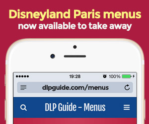 Disneyland Paris menus now on your mobile